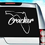 Florida Cracker Vinyl Decal Sticker Bumper Cling for Car Truck Window Laptop MacBook Wall Cooler Tumbler | Die-Cut/No Background | Multi Sizes/Colors, 20-inch, White