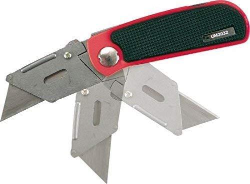Klapp-Messer mit Tasche und 10 Ersatzklingen Premium