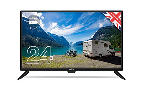 """Cello ZRTG0242 12 Volt 24"""" Smart Android TV with Freeview Play, Google Assistant, Google Chromecast, 3 x HDMI and 2 x USB   Made in the UK (2021 model)"""