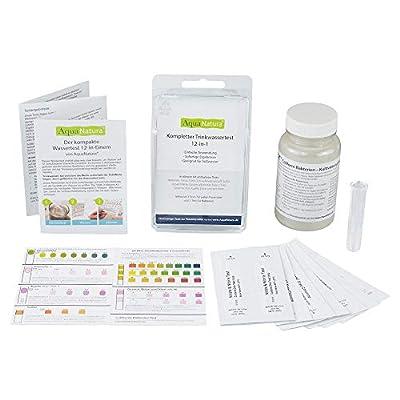 AquaNatura Wassertest 13-in-Einem (Bacteriën, nitraat, nitriet, om het verslag van totale hardheid, zuurgraad, vrij chloor,-Chloride, Koper,-sulfaat, ijzer, Ph)