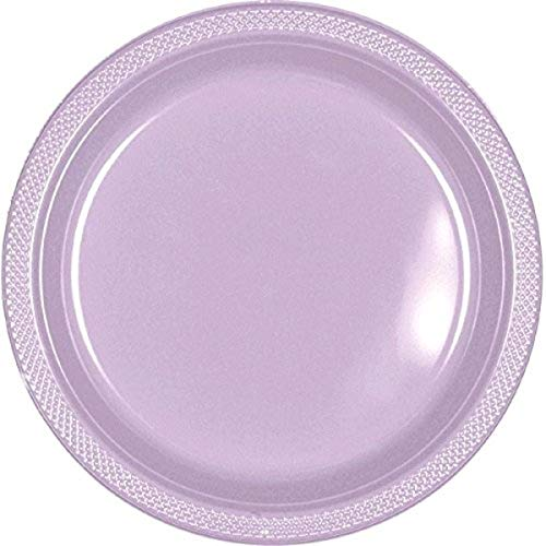 Lavender Round Plastic Plates | 9' | Pack of 20 | Party Supply