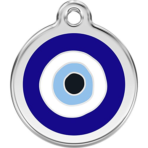 Red Dingo Personalized Evil Eye Pet ID Dog Tag (Small)