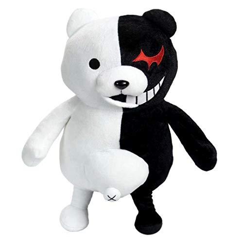 XFei Danganronpa Monokuma Plüschtier Black & White Bear Weiches Kuscheltier Puppen 43cm Plüsch Kissen Spielzeug Wohnkultur Adornmen