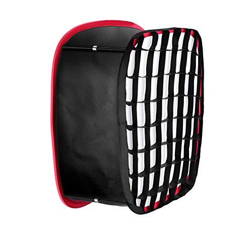 Neewer Faltbare Softbox Diffusor mit Riemenbefestigung Gitter und Tragetasche Kompatibel mit Neewer 480/660/530 LED Lichtpaneelen 9,25 x 8,27Zoll Öffnung (Schwarz + Rot)