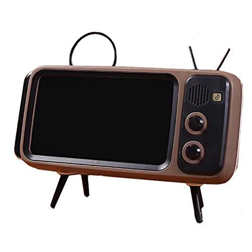 Osindii Soporte para teléfono de TV retro, soporte de escritorio universal, soporte clásico para iPhone X 6, 6S, 7, 8 Plus, Xs 11 Pro Max y otros teléfonos inteligentes de 4.7 a 5.5 pulgadas