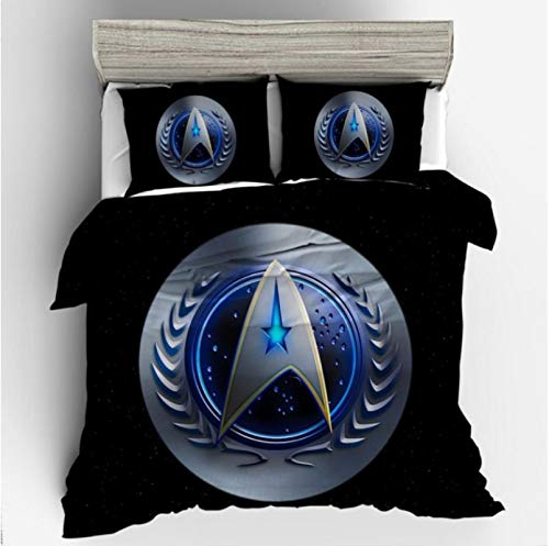 Vscdye Bettwäsche-Set 3D-Bedrucktes Bettbezug-Set Star Trek Heimtextilien Für Erwachsene Bettwäsche Mit Kissenbezügen.200X200Cm
