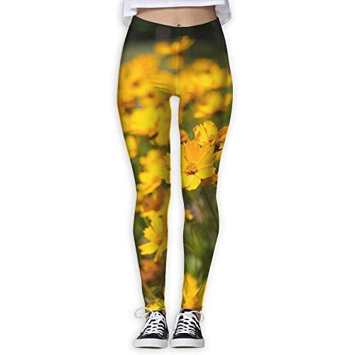 Ewtretr Yoga Pilates Hosen Fitnesshose für Damen, Floral Printed Printed Leggings Full-Length Yoga Workout Leggings Pants