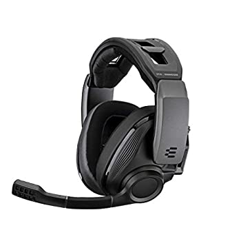 EPOS I SENNHEISER GSP 670 Wireless Gaming Headset Low-Latency Bluetooth 7.1 Surround Sound Noise-Cancelling Mic Flip-to-Mute Audio Presets For Windows PC PS4 and Smartphones  Black