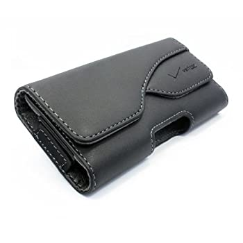 Premium Quality Verizon OEM Leather Case Cover Holster with Swivel Belt Clip for Verizon Motorola Droid RAZR MAXX HD - Verizon Motorola Droid Ultra - Verizon Motorola Droid X2
