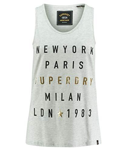 Superdry Tank Dames City Letters FOIL Vest Ice Marl