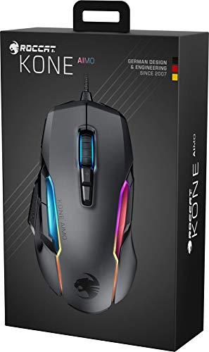 Roccat Kone AIMO Gaming Maus (hohe Präzision, Optischer Owl-Eye Sensor (100 bis 16.000 Dpi), RGB AIMO LED Beleuchtung, 23 programmierbare Tasten, Designt in Deutschland, USB), schwarz(remastered) - 5