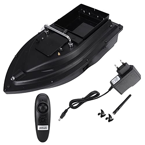 Ahageek Barca con Esca Intelligente RC, carico di 1,5 kg Strumento di Pesca Intelligente con Telecomando da 500 m Barca con Esca per Pesci a Magazzino Singolo con indicatore Luminoso