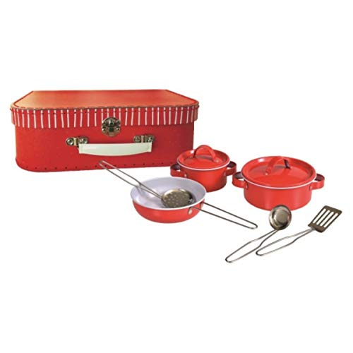 Egmont Toys Estuche de Cacerola de Metal Rojo