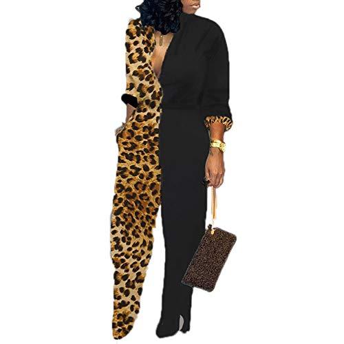 Dames Jumpsuit met lange mouwen Street Fashion Jumpsuit met wijde pijpen Camouflageprint, Luipaardprint, Colorblock-playsuit