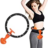 Easy to assemble and get started - Each hula hoop has a weight ball to help you get started and continue the hoop easily. The snap-on structure facilitates mounting and dismounting. Auto count LCD display: each ring will be counted, on the LCD displa...