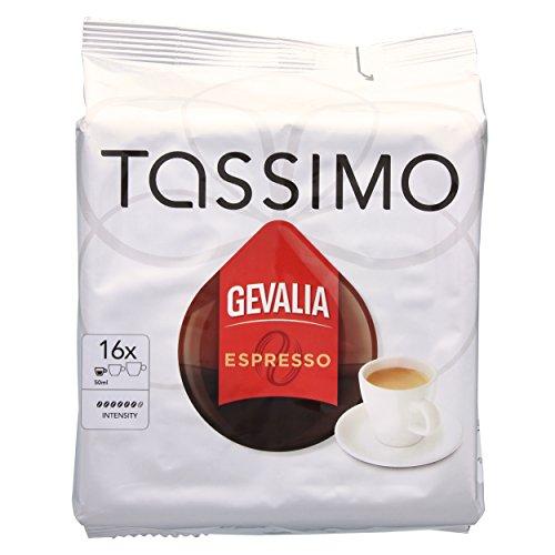 Tassimo Gevalia Espresso, Kaffee, Kaffeekapsel, gemahlener Röstkaffee, 16 T-Discs