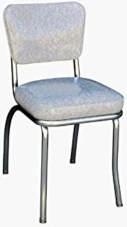 Richardson Seating Cracked Ice Retro Chrome Kitchen Chair with 2