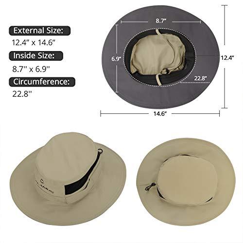 Calamus UPF 50 Boonie Sun Hat– Sun Protection Hat, Fishing Hat, Beach & Hiking Hat, Golf Hat, Hunting Hat, Paddling, Rowing, & Kayaking - Kaki - Best Boonie Hat for Fishing
