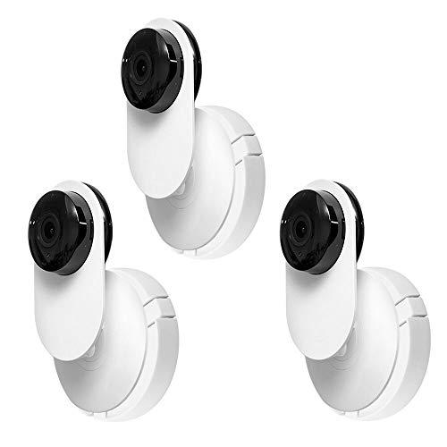 YUSHIWA 3 Soportes de Pared para Cámara YI Giratorio Soporte de Plástico para Cámara de Seguridad Ajustable 360 °Soporte de Montaje Interior con Tornillos para Cámaras de Vigilancia (Blanco)