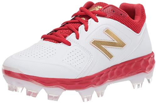 New Balance Women's Fresh Foam Velo V1 TPU Molded Softball Shoe, Red/White, 11 M US