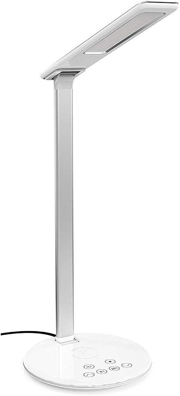 HAOTAIDENG Tischlampe Schreibtischlampe Led Usb Ladegert Für Zuhause Drahtlose Ladegert Leselampe Wei