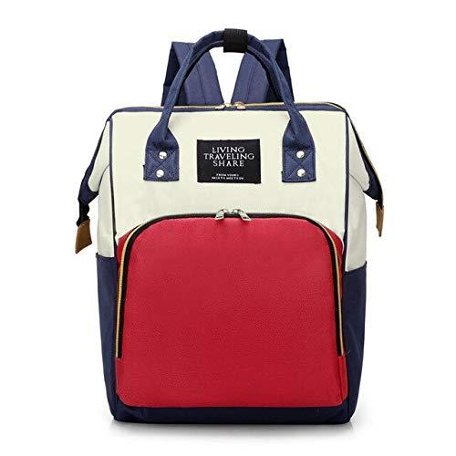 XMYNB Mamá bolsa de moda de maternidad mujer embarazada bolsa de pañales de gran capacidad mochila de viaje - - A