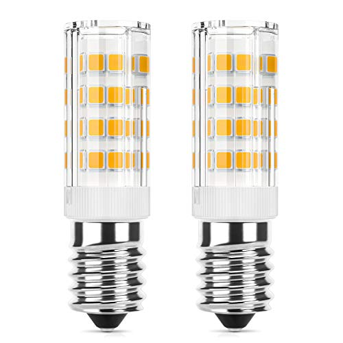 DiCUNO E14 LED Birne 4W für Dunstabzugshaube (40 W Halogen Äquivalent), 400LM, Warmweiß (3000K), 220-240V, Maiskolben Led Mais Birne,Nicht dimmbar, Kühlschranklampe/Nähmaschinen, 2er Pack