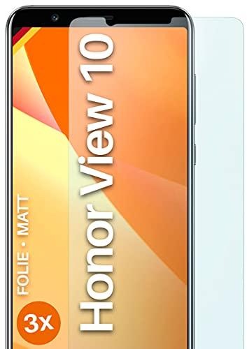 moex Schutzfolie matt kompatibel mit Huawei Honor View 10 - Folie gegen Reflexionen, Anti Reflex Bildschirmschutz, Matte Bildschirmfolie - 3X Stück
