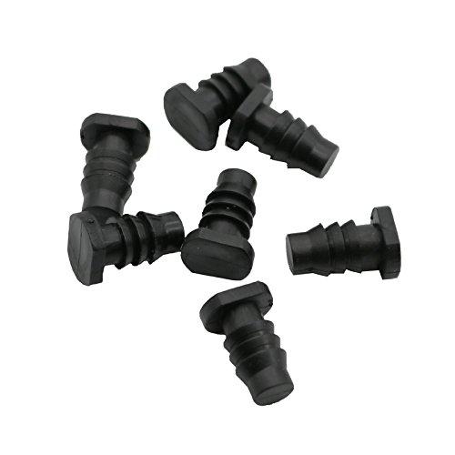 Bureze 10 pcs Bouchon d'extrémité Tube capillaire Joint d'étanchéité Plug Tuyau d'arrosage de goutte Plug