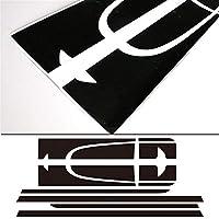 車のデカール カーサイドレーシングストライプスフードトランク/ MINIクーパーカントリーマンR60 2013年から2016年アクセサリー用リアボンネットエンジンカバーデカールステッカー (Color Name : Black)