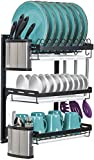 Sorbus Dish Drying Rack, 3-Tier Hanging Wall Mount Drying...