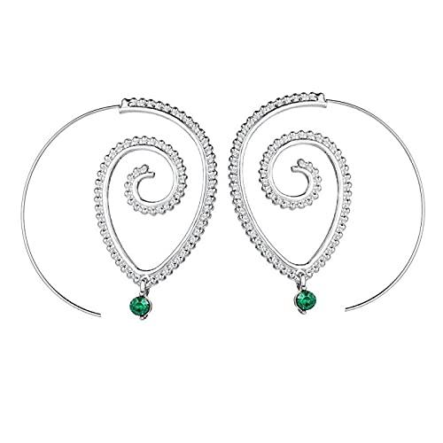 DFDLNL Regalos Pendientes Mujer Swirl Gear Shape Aro Pendientes Ear Stud 1
