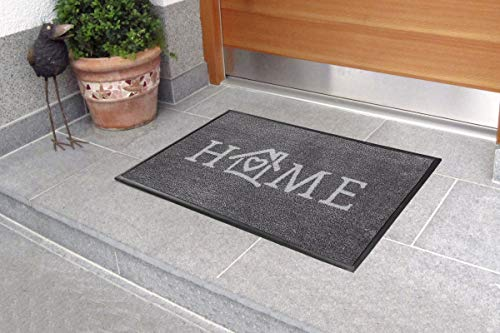 Carpet Diem Fußmatte Soft Home 50x75cm Velour Schmutzfang Rahmen, Rückseite rutschhemmend saugstarkes Garn nimmt Schmutz und Wasser auf für geschützten Aussenbereich und Innenbereich