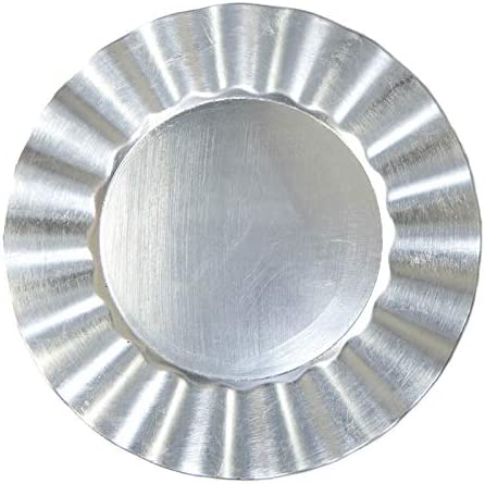 Silver Round Fan Edge Charger Cheap Sacramento Mall 3 Plate pieces