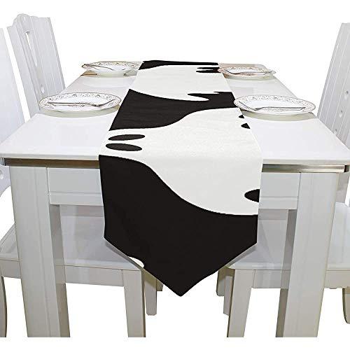 sunnee-shop tafelkleed cool Halloween Creep Fun Ghost moderne tafelloper voor buitendecoratie kantoor tafelkleden 13X90IN