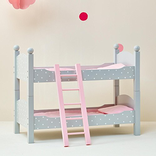 Olivias World 18-inch babypop-meubels houten stapelbed Role Play TD-0095AG