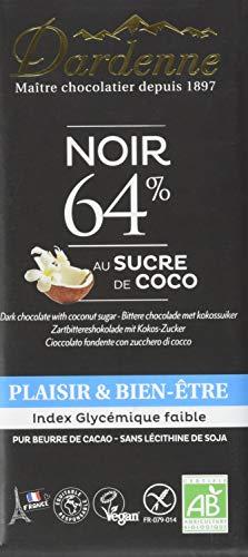 Dardenne Tablette Plaisir & Bien-Etre Chocolat Noir au Sucre de Coco 100 g 1 Unité