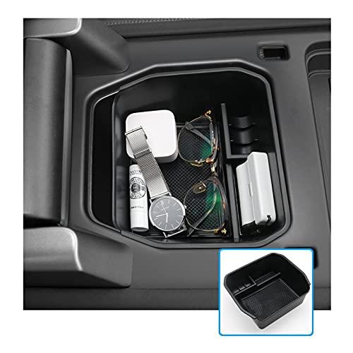 RUIYA Contenitore per bracciolo centrale per Land Rover Defender per console centrale, bracciolo interno, organizer per auto, accessorio Defender (nero)
