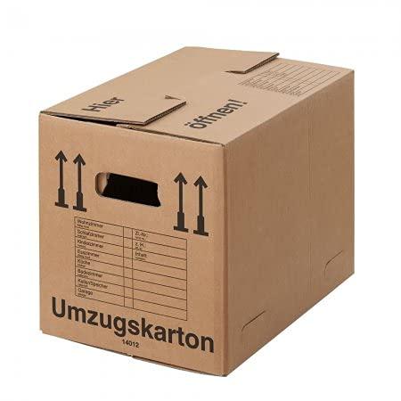 BB-Verpackungen 100 cajas de mudanza compactas de 500 x 350 x 370 mm (extremadamente estables de 2 ondulaciones) – sets de entre 10 y 300 unidades