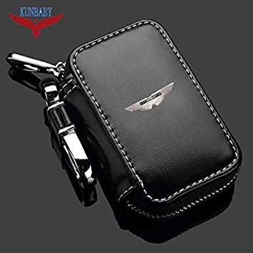 Shinebear Genuine Leather Car Brand Key Holder Cars Key Wallets Car Key Keychain Ring Case Bag Cover For Aston Martin Color Name Black Amazon Com