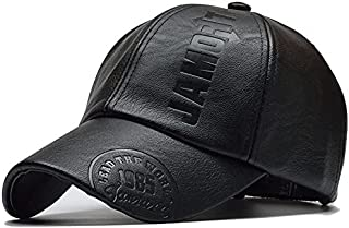 Unisex PU Leather Cap Hat Volleyball Vintage Sports Adjustable Baseball Cap Adjustable Dad Hats for Men Women Sport Outdoor