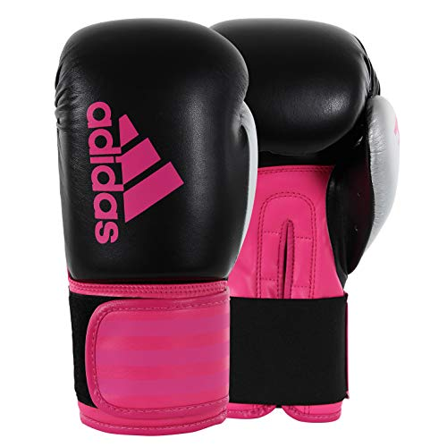 adidas Women's Hybrid 100 Black/Pink Boxing Gloves - 12oz