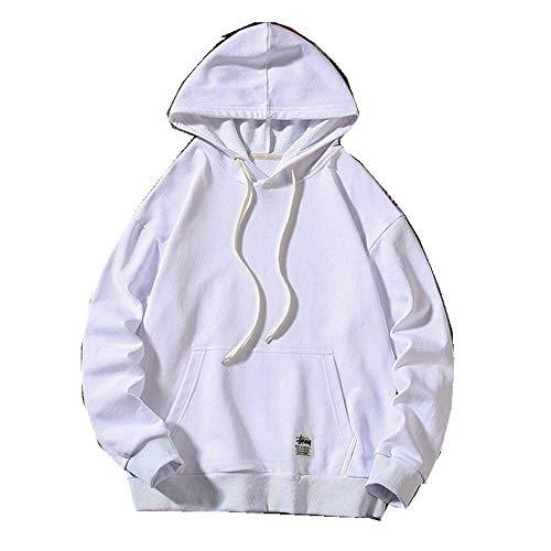 NOBRAND Herren Strickwaren Herbst neuer Kapuzenpullover Fashion Trade Werbung Hemd Arbeitskleidung Mantel Gr. XX-Large, weiß