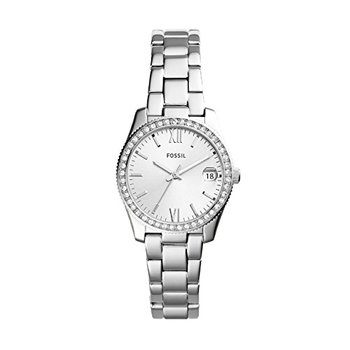 Fossil Damen Analog Quarz Uhr mit Edelstahl Armband ES4317