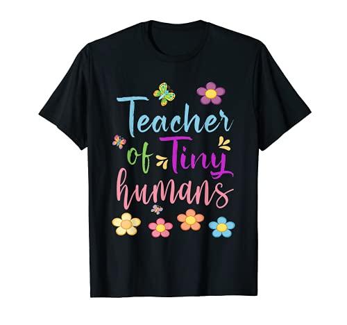 Profesor divertido de pequeños humanos para maestros hombres mujeres Camiseta
