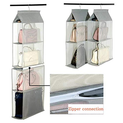 YYYC Detachable Hanging Handbag Organizer Purse Bag Ction Storage Holdollecer Wardrobe Closet Space Saving Organizers System, For Living Room Bedroom Home Use Grey 2019 New