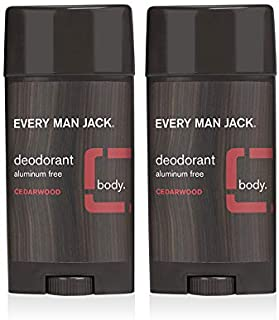 Every Man Jack Deodorant - Cedarwood | 3-ounce Twin Pack - 2 Sticks Included | Naturally Derived, Aluminum Free, Parabens-...