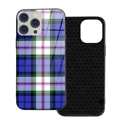 MEUYGOFLZ Compatible con iPhone 12 Pro Max, carcasa resistente de cuerpo completo, carcasa de cristal TPU suave para iPhone 12 Pro Max 6.7 pulgadas, vestido Baird Tartán