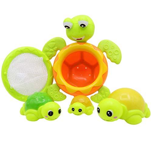 Siamrose Bañera Flotante Turtle Tortuga Turtle Juguete Familia Piscina Bañera Piscina Tortuga Juguetes Niños Divertido Agua Juguete Niños Verano Favor de 5pcs (Verde) LTLNB