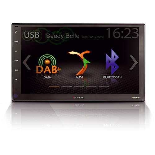 """ZENEC Z-N956: Infotainer, 2-Din Mediencenter, Multimediasystem mit 9""""/22,9 cm HD Touchscreen, Autoradio mit DAB+, Bluetooth, USB, zum Festeinbau Navi für Autos oder Reisemobile erweiterbar"""